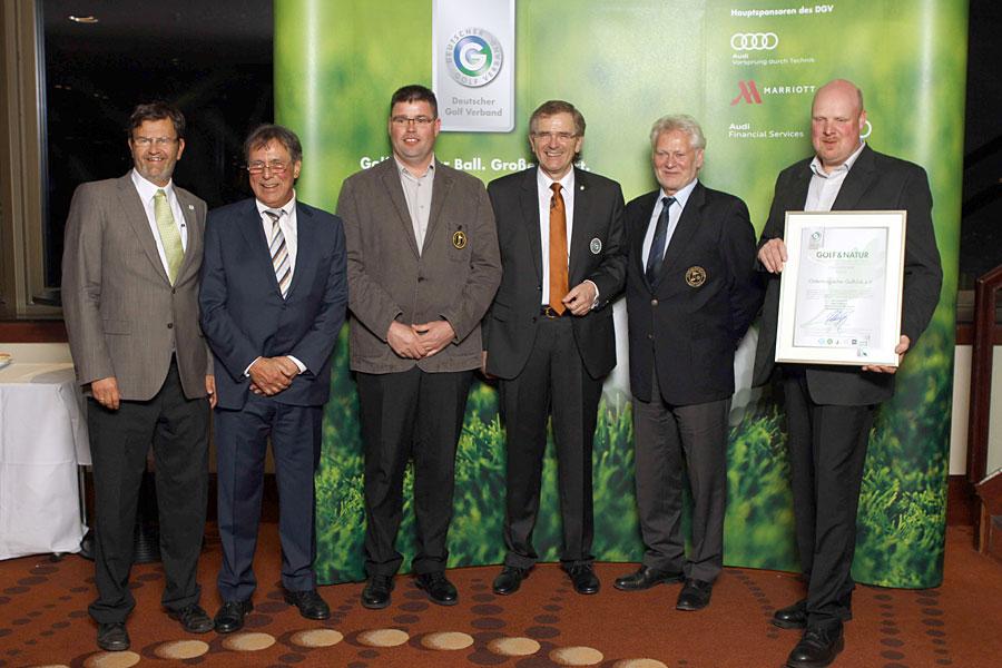 Golf und Natur GOLD für den Oldenburgischen Golfclub