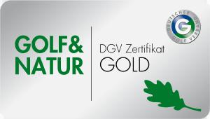 DGV Zertifikat Golf und Natur GOLD